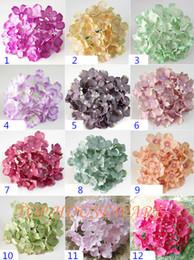 Wholesale Diy Bride Bouquet - 2016New Colors 15cm 6' Artificial Silk Hydrangea Flower Heads For Diy Wedding Wall Arch Flower Bouquet Home Decorative Flower
