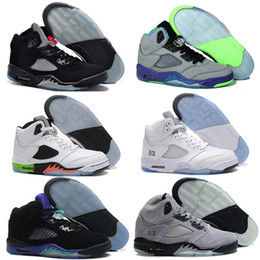 Wholesale Space Beans - 2016 air retro 5 men basketball Shoes OG Black Metallic Olympic Metallic Gold space jam Green Bean Mark Ballas 23 Fire Red Sneakers