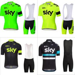 Wholesale Sky Cycling Jersey Bib Shorts - 2016 fluor SKY Sportswear Mountain Bike Ropa Ciclismo MTB top Bicycle Wear Cycling Jersey clothing Shirt Bib Shorts sets