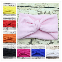 Wholesale Hair Accessory Bow Ladies - new hot style kids girl lady headbands headwear with bow girl simple solid hairband free ship Stretch elastic gift hair accessories