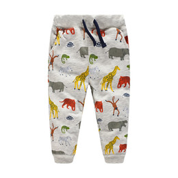 Wholesale Pencils Draw - Middle Boys clothes Casual Sports pants Animal prints Cotton Trousers for kids Draw cord Boutique Children clothing 2017 Autumn Spring 2-7T