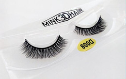 Wholesale Individual Mink Lash Extensions - Selling 1pair lot 100% Real Siberian 3D Mink Full Strip False Eyelash Long Individual Eyelashes Mink Lashes Extension D 008