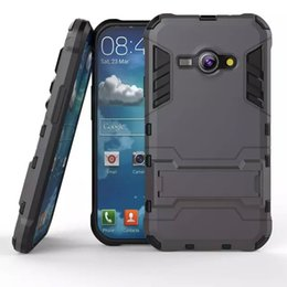 Wholesale Galaxy Ace Tpu - Hybrid KickStand Anti Shock Defender Armor Case TPU+PC cover for SAMSUNG GALAXY J1 ace J110 J2 J2 2016 J210 J3 PRO J3 J310 A310 100PCS LOT