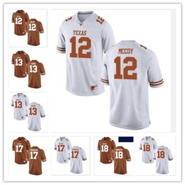 Wholesale Youth Mccoy Jersey - Customize Texas Longhorns College Football Jerseys 12 Colt McCoy 13 Jerrod Heard 17 Trent Domingue 18 Tyrone Swoopes Men Women Youth Jersey