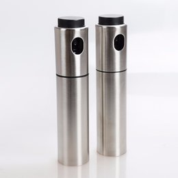 Wholesale Oil Sprayer Wholesale - Barbecue Oil Bottle Stainless Steel Oils Sprayer Portable Easy To Clean Kitchen Cooking Tools 9 5xz C R