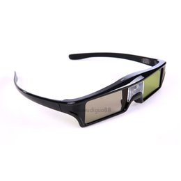 Wholesale Acer 3d Glasses - 2017 New 3pcs 3D DLP-Link active glasses eyewear for Acer BenQ Optoma ViewSonic DELL Projector Free Shipping!
