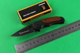 Wholesale Small Camps - Browning FA15 mini small pocket folding knives camping hunting knife tool hand wood handle 6pcs freeshipping