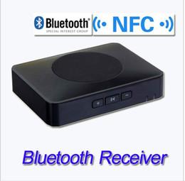 Wholesale Nfc Bluetooth Receiver - 2014 Desktop Home NFC Bluetooth V3.0 Audio Receiver with MIC for iPad iPhone Smasung Sound System Wireless Speaker