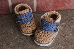 Wholesale Knitted Infant Shoes - 2015 Fashion Handmade Crochet baby booties Soft Fashion infant knitted first walker shoes toddler sandal fit a baby age 0-12months