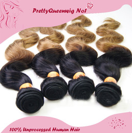 Wholesale G Human - New Arrive Peruvian Human Hair Ombre Body Wave Human Hair A Pack Of Two 100 g  pcs Peruvian Hair Wefts Hair Extensions 20