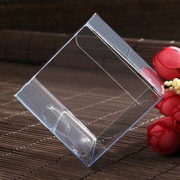 Wholesale Square Plastic Clear Box - 100pcs lot 4x4x4 CM PVC Clear Package Box Square Plastic Containers Jewelry Gift Box Candy Towel Cake Box Free Shipping