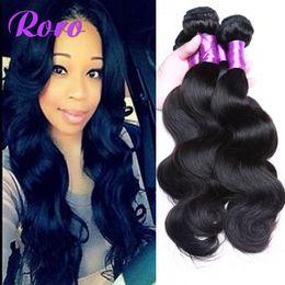 Wholesale Wholesale India Virgin Hair - Brazilian Body Wave 4 Bundles Peruvian Malaysian Mongolian India Brazilian Hair Bundles Brazillian Virgin Hair Body Wave Human Hair Weave