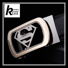 Wholesale Mens Designer Leather Handbags - Leather Superman Automatic Buckle Men's High-end Business And Leisure Belt Mens Designer High End For Women Handbag Wide Men Belts