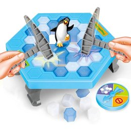 Wholesale Games Break - Save Penguin Knock Ice Block Interactive Family Game Penguin Trap Puzzle Table Games Balance I Broken Ice Cubes Puzzle Toys Desktop Game