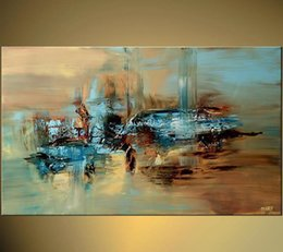 Wholesale Huge Abstract Oil Painting - Wholesale - - HUGE 100% handmade abstract oil painting large wall art on canvas High quality free shipping