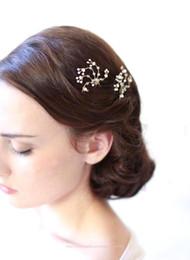 Wholesale Cheap Bridal Headwear - 2016 Cheap Crystal Pearl Flower Party Wedding Hairbands Bridal Headband Tiara Headwear Silver Pearls Bridal Crown Headbands