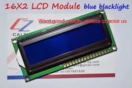 Wholesale Lcd Display Character - Wholesale-Free Shipping LCD1602 1602 module Blue screen 16x2 Character LCD Display Module HD44780 Controller blue blacklight