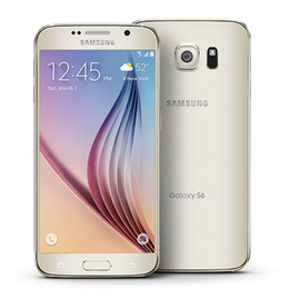 Wholesale Mobile Phone Unlocking - Refurbished Unlock Samsung Galaxy S6 G920 EU US AT&T T-mobile Version Cell Phones 5.1Inch Octa Core 3G RAM 32G ROM 16.0MP