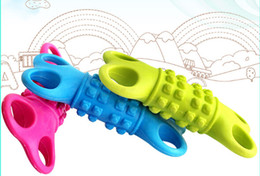 Wholesale Dog Teeth Bones - Environmental Small Size Pet Toys Natural TPR Rubber Dog Toys Rubber Small Bone Chewing Toys Tooth Clearning Elastic Dog Toys