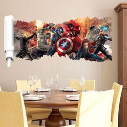 Wholesale Popular Living - Cartoon 3D popular super hero Wall Sticker for Boys room Child Art Decor Decals ZY1457
