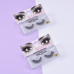 Wholesale Transparent Plastic Package - Mink Lashes 4D Mink False Eyelashes Long Lasting Lashes Natural & Lightweight Mink Eyelashes 1 pair Glitter Packaging