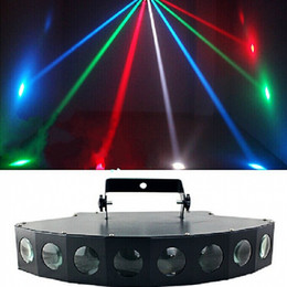 Wholesale Top Dj Laser Lights - 8pcs 10W LED DMX 512 Intelligent Control Laser Light Show Projector Stage Lighting Wedding DJ Bar Disco Effect Lights Top Quality