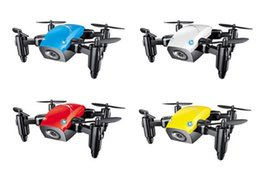 Wholesale Helicopter Remote Control Hd Camera - S9W 2.4G 4CH 0.3MP HD Camera Mini Helicopter WIFI FPV Altitude Hold Flight Planning Foldable RC Quadcopter Selfie Drone 5pcs DHL