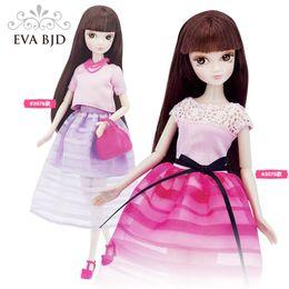 Wholesale 12 Figure Clothes - 1 6 BJD Doll 28cm Kurhn dolls for girls DIY Toy Beaut Travel series doll ( Free makeup Clothes Shoes ) EVA BJD DB00807