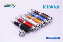 Wholesale E Cigarettes Dropshipping - Original Kamry K100 K101 mod kit E Cigarette k100 k101 e cig with 18650 18350 2200mAh Battery vv mod K101 K200 KTS Dropshipping