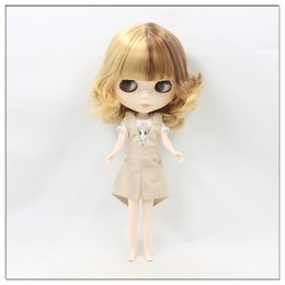 Wholesale Nude Dolls - Wholesale- Nude blyth dolls Mixed hair factory doll 20171019 blond