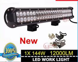 Wholesale Cree Led Light Bar Combo - led light bar 126W 20inch cree led work light bar Spot Combo beam for truck jeep Car led light bar high power offroad