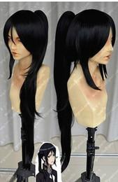 Wholesale K Cosplay Wigs - Wholesale cheap NEW Liuhe Otsuka Yayoi\PSYCHOPASS\K Short Black Cosplay Wig+ponytail