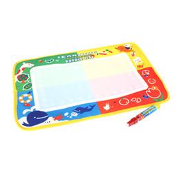 aqua matten Rabatt Kind-Zeichnungs-Wasser-Matten-Tablette-Aqua-Gekritzel 45 * 29cm Mehrfarbenzeichnungs-Brett + Zeichnungs-Feder Magisches Wasser Segeltuch