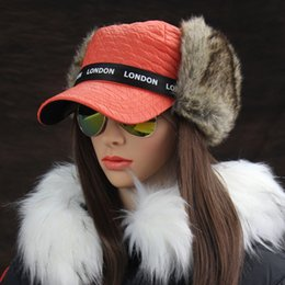 1b17aa7e725 Wholesale- Winter Hats Women s Bomber Hat Russian Ushanka British Style  London Earflap Trapper Cap Thermal Pilot Trooper Snow Caps discount russian  style ...