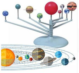 Wholesale Project Systems - DIY The Solar System Nine planets Planetarium Model Kit Science Astronomy Project Early Education kids astronomical science model KKA3457