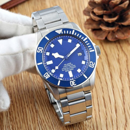 Wholesale Mens Brown Dial Watches - 2018 Luxury Brand Watch Automatic Movment Stainless Steels Black  BLUE Dial 40mm Pelagos Mens Sport Watches Wristwatches