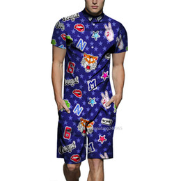 02f0e518ce0e 3D Print Rompers Men s Short Sleeve Jumpsuit Playsuit Male Harem Cargo Overalls  One Piece Men Sets Board Shorts