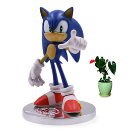 dolls sonic Coupons - Anime Game Sonic 20th Anniversary PVC Action Figure Collection Model Doll Toy Christmas Gift for Children 18 Cm