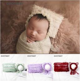 Dvotinst Bebê Recém-nascido Fotografia Adereços Macio Capô Bonnet Hat + Posando Travesseiro Conjunto Fotografia Acessórios Estúdio Shoots Foto Adereços de