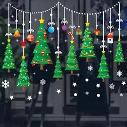 Decorazioni della finestra di natale online-Albero di Natale Adesivi autoadesivi Decorazioni natalizie Adesivi per finestre di Natale Decorazione per finestre Adesivi per pareti WX9-1164