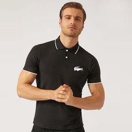 justin bieber swag noir t-shirt Promotion 2019 hommes designer marque petit cheval crocodile broderie vêtements hommes tissu confortable respirant polo T-shirt casual shirt