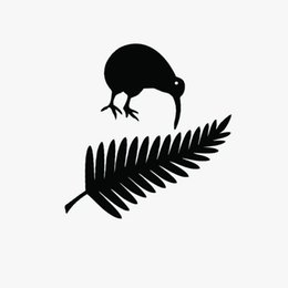 11.4 * 15 СМ Киви Птица И Новая Зеландия Папоротник Винила Автомобиля Наклейки Творческий Стайлинга Автомобилей Наклейка наклейка на бампер Клей Наклейка Черный / Серебристый от
