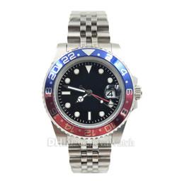 orologi da uomo 24 ore Sconti orologio di lusso GMT meccanico movimento automatico 126710BLRO orologi da polso 24 ore rosso blu lunetta in ceramica mens orologi data auto orologi Mes