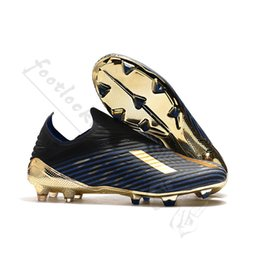 plata metalica Rebajas 2019 nuevo llega zapatos de fútbol tacos para hombres X 19+ FG Core balck Oro Metalic silver Dark Script 302 Redirect Pack botas de fútbol