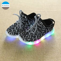 77ff409d6328d 2019 1 To 10 Years Old LED Lighted Baby Boys And Girls Fashion kids Sneakers  Children Casual Shoes Non-Slip Soft Bottom Shoes