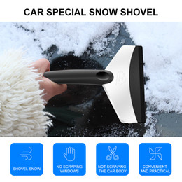 Pás de neve de aço on-line-Borracha Lidar Com Aço Inoxidável Ao Ar Livre Ferramenta de Carro de Neve Snow Windshield Raspador de Gelo Remoção de Neve Pá accessries carro