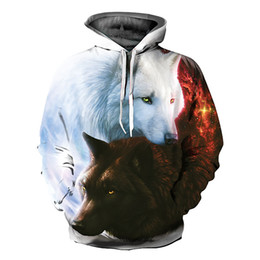 11ebbd2f926a China Unisex Couple Hooded Pullover 3D Wolf Graphic Print Hoodie Sweatshirt  Jumpers wolf couple promotion suppliers