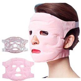 Forma i magneti online-Maschera facciale Viso Cura della pelle Maschere per il trucco Gel Magnete Viso sottile Salute Maschere magnetiche Maschere per il viso dimagrante RRA939