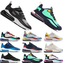 Zapatilla de amortiguacion online-Nike air max 270 react Nuevo diseñador Topacio negro TN react zapatos para correr para hombre azul vacío Azul rojo Óptico negro para mujer Cumbre blanca Zapatillas versátiles