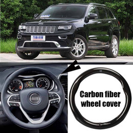 le ruote di jeep cherokee Sconti Per Jeep Cherokee Cover per volante in pelle in fibra di carbonio per auto Sport Racing